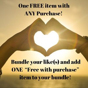 🤩 One FREE item with ANY purchase!